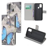 Taltech Wallet Cover for OnePlus Nord N10 - Blue Butterfly