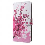 Taltech Wallet Cover for Samsung Galaxy J3 2017 - Peach Flowers