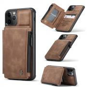 Taltech CASEME Leather Case with Card Slots for iPhone 11 Pro Max - Brown