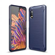 Taltech Carbon Fiber Cover for Galaxy Xcover Pro - Blue