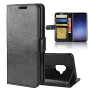 Crazy Horse PU-Leather Cover for Samsung Galaxy S9 - Black