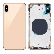 iPhone XS Max Complete Back Cover Glass with Frame - Gold