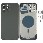 NONAME iPhone 12 Pro Max Complete Back Cover Glass with Frame - Black