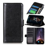 Taltech Crazy Horse Surface Wallet Cover for Huawei P40 Pro - Black