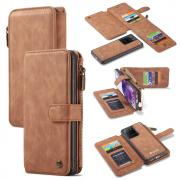 Taltech CASEME 007 2-in-1 Wallet Cover for Samsung Galaxy S20 Ultra - Brown