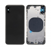 iPhone XS Complete Back Cover Glass with Frame - Black