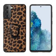 Taltech Case with Ringholder for Samsung Galaxy S21 Plus 5G - Leopard Texture