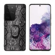 Taltech Case with Ringholder for Samsung Galaxy S21 Ultra 5G - Snake Texture