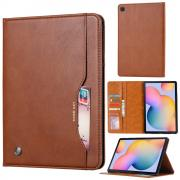 """Taltech Leather Cover for Galaxy Tab S6 Lite 10.4"""" - Brown"""