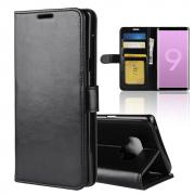 Taltech Crazy Horse Wallet Cover for Samsung Galaxy Note 9 - Black