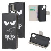 Taltech Wallet Cover for Samsung Galaxy A21s - Don't Touch