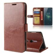 Crazy Horse Cover for Sony Xperia XZ2 - Brown