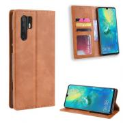 Vintage Style Cover for Huawei P30 Pro - Brown
