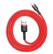 Baseus Kevlar USB-Cable with Lightning 2A 1 m - Grey/Red