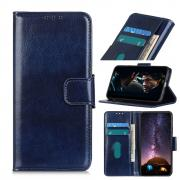 Taltech Crazy Horse Wallet Cover for Samsung Galaxy Note 20 - Blue