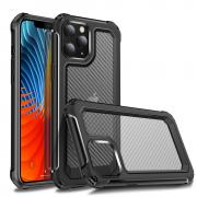 Taltech Carbon Fiber Case for iPhone 12 /12 Pro - Black/Transparent