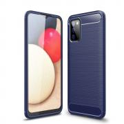 Taltech Carbon Fiber Brushed Case for Samsung Galaxy A02s - Blue