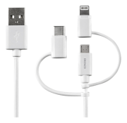 DELTACOIMP DELTACO USB-C/Micro USB/Lightning-sync-/charge,0.5m