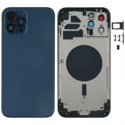 NONAME iPhone 12 Pro Max Complete Back Cover Glass with Frame - Blue
