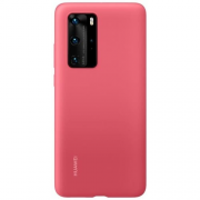 huawei Huawei P40 Pro Silicone Case - Berry red