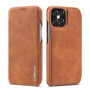 Taltech LC.IMEEKE Retro Cover for iPhone 12 & 12 Pro - Brown