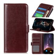 Taltech Crazy Horse Surface Wallet Cover for Huawei P40 Pro - Brown