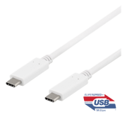 DELTACO DELTACO USB-C for USB-C-Cable, 1m - White