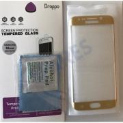 Droppo Tempered Glass S6 Edge Gold Curved 0,3mm