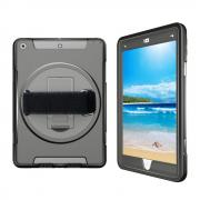 """Taltech Heavy Duty Hybrid Case with Stand for iPad 9.7"""" 2017/2018 - Black"""