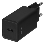 DELTACO USB-C PD, 5V, 3A, 18W wall charger by Deltaco- Black