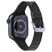 Taltech Leather Watchband for Apple Watch 4/5/6/SE 44mm & 1/2/3 40mm - Black