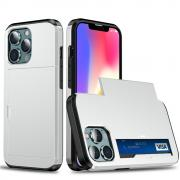 Taltech IPhone 13 mini case with card holder- Silver