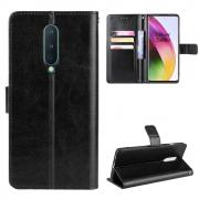 Taltech Crazy Horse Wallet Cover for OnePlus 8 - Black