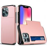 Taltech IPhone 13 mini case with card holder- Rosé