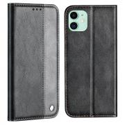 Taltech Business Style Wallet Case for iPhone 13 - Grey