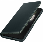 Samsung Samsung Leather Flip Cover for Galaxy Z Fold3 - Green