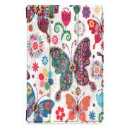 "Taltech Tri-fold Cover for Samsung Galaxy Tab S6 10.5"" - Butterlies & Flowers"