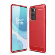 Taltech Carbon Fiber Brushed Case for OnePlus 9 Pro - Red