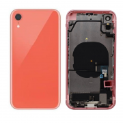 iPhone XR Complete Back Cover Glass with Frame - Coral