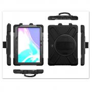 Taltech X-Shape Case with Rotating Stand for Samsung Galaxy Tab Active Pro - Black