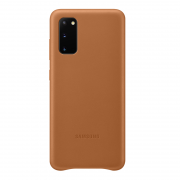 Samsung Samsung Leather Cover for Samsung Galaxy S20 - Brown
