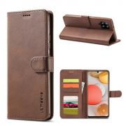 Taltech LC IMEEKE Wallet Cover for Samsung Galaxy A42 - Brown