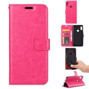 Crazy Horse Cover for Huawei P Smart (2019) / Honor 10 Lite - Pink