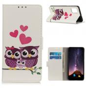 Taltech Wallet Cover for Samsung Galaxy A72 4G/5G - Owls & Hearts