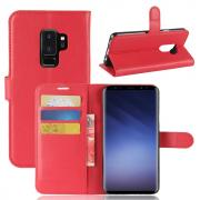 Litchi PU-Leather Cover for Samsung Galaxy S9 Plus - Red