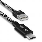 Dux Ducis K-One Micro-USB-cable for Samsung, Huawei 2.1A 0,25 m