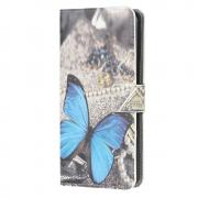Taltech Wallet Cover for Huawei P40 Lite - Blue Butterfly