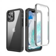 Taltech Full Protection Case + Screen Protector for iPhone 12 Mini - Black