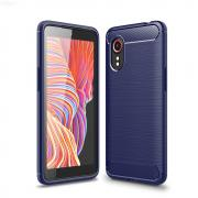 Taltech Brushed Carbon Fiber Case for Samsung Galaxy Xcover 5 - Blue