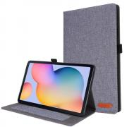 """Taltech Cloth Texture Cover for Galaxy Tab S6 Lite 10.4"""" - Grey"""
